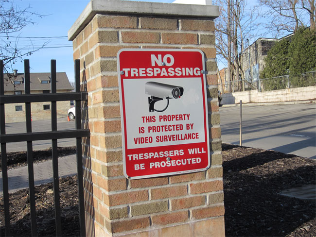 Photo: No Trespassing, Under Surveillance