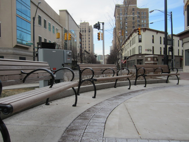 Benches at Monument Park