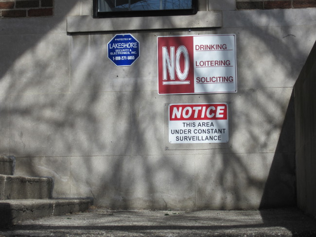 "Multiple ""No"" Signs in Heartside"