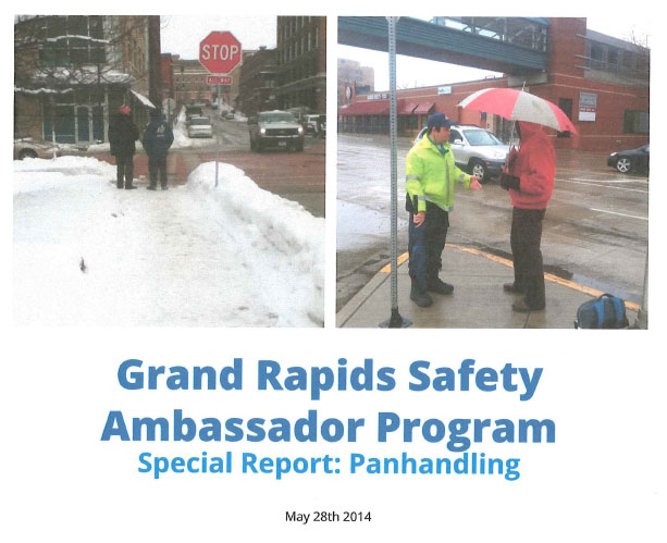 Grand Rapids Safety Ambassador Panhandling Report