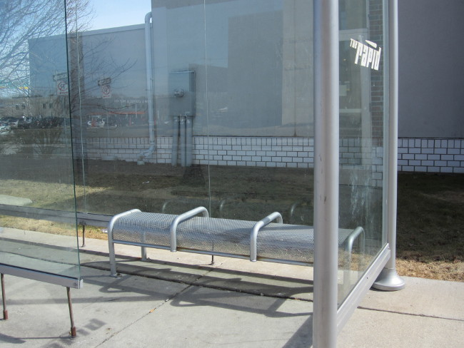 Benches at Rapid bus stop