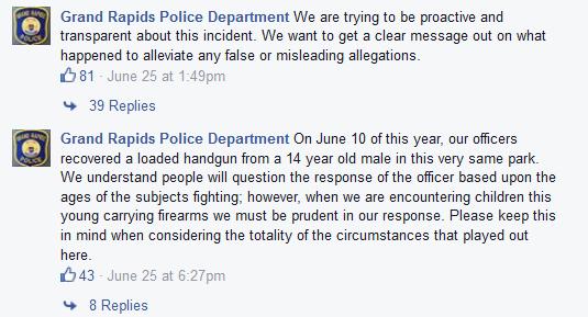 GRPD Facebook Posting