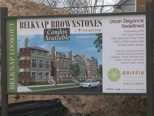 Ad for the Belknap Brownstones