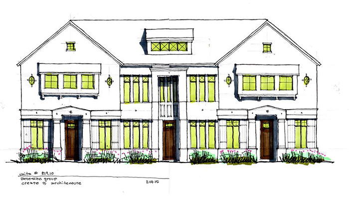 Drawing of Project on Coit