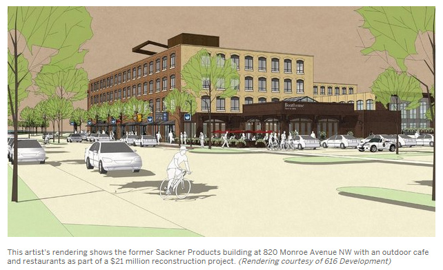 616 Lofts Rendering from Mlive
