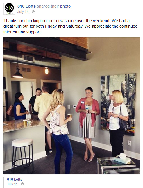 616 Lofts Facebook Photo