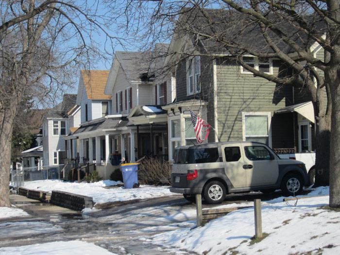 Houses along Coit Ave Photo